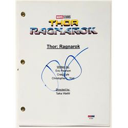 "Tom Hiddleston Signed ""Thor: Ragnarok"" Full Movie Script (PSA COA)"