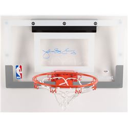 "Julius ""Dr. J"" Erving Signed Mini Basketball Hoop (PSA COA)"