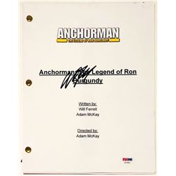 "Will Ferrell Signed ""Anchorman: The Legend of Ron Burgundy"" Full Movie Script (PSA COA)"