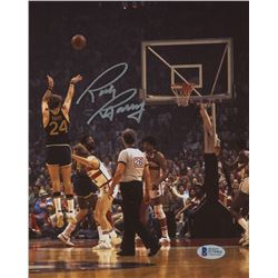 Rick Barry Signed San Francisco Warriors 8x10 Photo (Beckett COA)