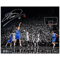"Dirk Nowitzki Signed Dallas Mavericks ""Finals"" 16x20 Limited Edition Photo (Panini COA)"