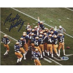 Rudy Ruettiger Signed Notre Dame Fighting Irish 8x10 Photo (Beckett COA)