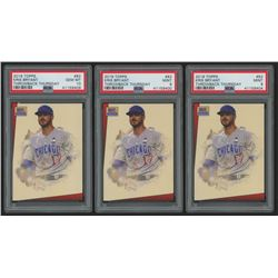 Lot of (3) PSA Graded 9  10 2018 Topps Throwback Thursday #82 Kris Bryant / 2289* / '93 Star Wars