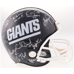 New York Giants Authentic On-Field Helmet Signed by (25) with Phil Simms, Ottis Anderson, Billy Ard,