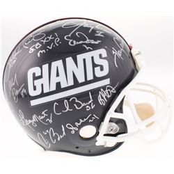 New York Giants Authentic On-Field Helmet Signed by (26) with Phil Simms, Ottis Anderson, Billy Ard,