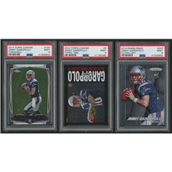 Lot of (3) PSA Graded 9 Jimmy Garoppolo Rookie Cards with 2014 Topps Chrome #150A RC, 2014 Topps Chr