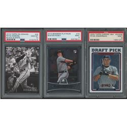 Lot of (3) PSA Graded Baseball Rookie Cards with 2005 Topps Chrome Update #208 Ryan Zimmerman (PSA 9