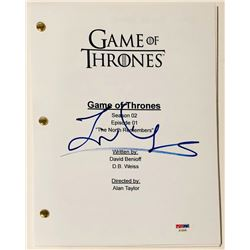"Liam Cunningham Signed ""Game of Thrones"" Full ""The North Remembers"" Script (PSA COA)"