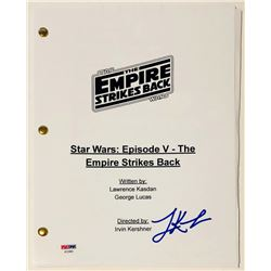 "Lawrence Kasdan Signed ""Star Wars: The Empire Strikes Back"" Full Movie Script (PSA COA)"