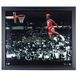 Michael Jordan Signed Chicago Bulls 23x27 Custom Framed Limited Edition Photo Display (UDA COA)