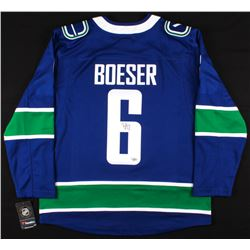 Brock Boeser Signed Vancouver Canucks Jersey (Fanatics Hologram)
