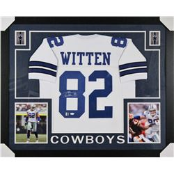 Jason Witten Signed Dallas Cowboys 35x43 Custom Framed Jersey (JSA  Witten Hologram)