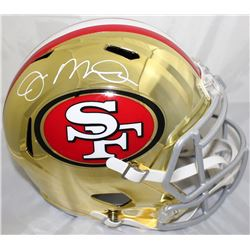 Joe Montana Signed San Francisco 49ers Full-Size Chrome Speed Helmet (JSA COA)