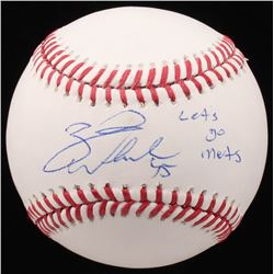 "Zack Wheeler Signed OML Baseball Inscribed ""Lets go Mets"" (Beckett COA)"