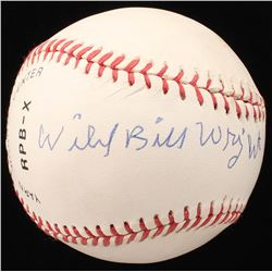 "Bill ""Wild"" Wright Signed OL Baseball (JSA COA)"