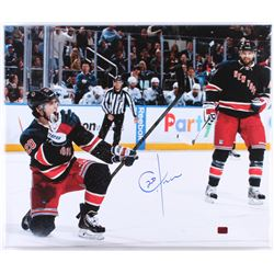 Chris Kreider Signed New York Rangers 20x24 Photo On Canvas (Kreider Hologram)