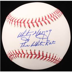 "Whitey Herzog Signed OML Baseball Inscribed ""The White Rat"" (PSA COA - Graded 9.5)"