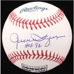 "Rollie Fingers Signed ""Baseball Hall of Fame"" OML Baseball Inscribed ""HOF 92"" (JSA COA)"