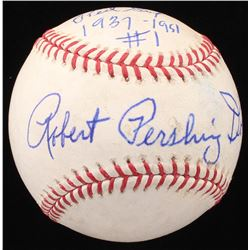 "Robert ""Bobby"" Pershing Doerr Signed OML Baseball Inscribed ""Red Sox 1937-1951"", ""#1"",  ""HOF 86"" (JS"