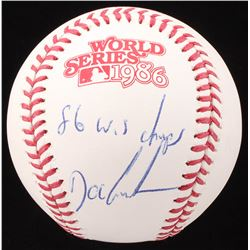 "Dwight Gooden Signed 1986 World Series Baseball Inscribed ""86 W.S Champs"" (JSA COA)"