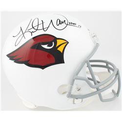 "Kurt Warner Signed Arizona Cardinals Full-Size Helmet Inscribed ""HOF 17"" (Warner Hologram  Radtke CO"