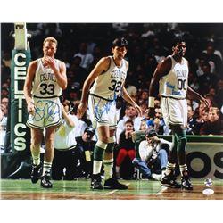 Larry Bird, Kevin McHale  Robert Parish Signed Boston Celtics 16x20 Photo (JSA Hologram  Bird Hologr
