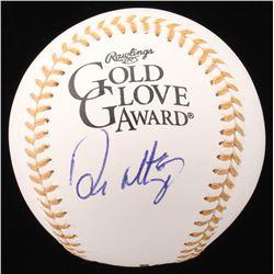 Don Mattingly Signed Gold Glove Award Baseball (Beckett COA)