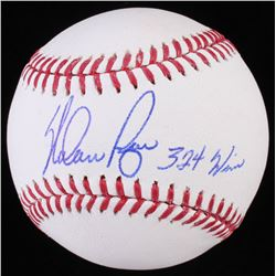 "Nolan Ryan Signed OML Baseball Inscribed ""324 Wins"" (Radtke Hologram  Ryan Hologram)"