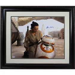 """Daisy Ridley Signed Star Wars """"Rey With BB-8"""" 16x20 Photo (PSA  Steiner COA)"""