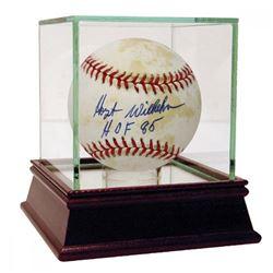 "Hoyt Wilhelm Signed Baseball Inscribed ""HOF 85"" with High Quality Display Case (Steiner COA)"