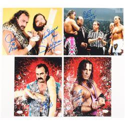 "Lot of (4) Signed Wrestling 8x10 Photos with (1) ""Hacksaw"" Jim Duggan  Jake ""The Snake"", (2)  Bret """
