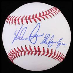 "Nolan Ryan Signed OML Baseball Inscribed ""The Ryan Express"" (Radtke Hologram  Ryan Hologram)"