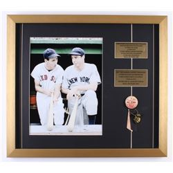 Ted Williams  Joe DiMaggio All-Star Game 19.5x22 Custom Framed Photo Display with Vintage Pin  Ribbo