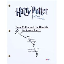 "Helena Bonham Carter Signed ""Harry Potter and the Deathly Hallows- Part 2"" Movie Script (PSA COA)"