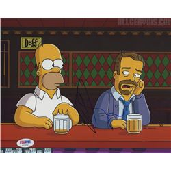 """Ricky Gervais Signed """"The Simpsons"""" 8x10 Photo (PSA COA)"""