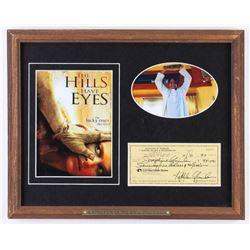 "Kathleen Quinlan Signed ""The Hills Have Eyes"" 12.5x15.5 Custom Framed Check Display (JSA COA)"