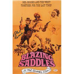"""Mel Brooks Signed """"Blazing Saddles"""" 12x18 Photo (PSA COA)"""