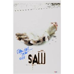 """Tobin Bell Signed """"Saw"""" 11x17 Movie Poster Photo Inscribed """"Jigsaw""""  """"8/17/18"""" (PSA COA)"""