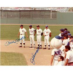 Mickey Mantle  Joe DiMaggio Signed 8x10 Photo (JSA LOA)