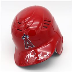 """Mike Trout Signed Los Angeles Angels Authentic Full-Size Batting Helmet Inscribed """"12 ROY""""  """"14, 16"""