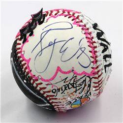 Roger Waters Signed Pink Floyd Baseball Hand-Painted by Charles Fazzino (PSA COA  Museum Editions CO