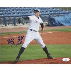 """Blake Snell Signed Charlotte Stone Crabs 8x10 Photo Inscribed """"1st round"""" (JSA COA)"""
