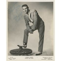 "George Jones Signed ""Grand Ole Opry"" 8x10 Photo Inscribed ""Thanks A Lot"" (JSA COA)"