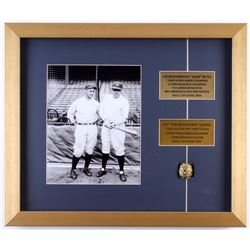 Babe Ruth  Lou Gehrig New York Yankees 16x19 Custom Framed Photo Display with Replica Ring