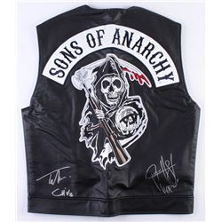 """Tommy Flanagan  Ryan Hurst Signed """"Sons of Anarchy"""" Vest Inscribed """"Chibs""""  """"Opie"""" (Radtke COA)"""