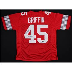 """Archie Griffin Signed Ohio State Buckeyes Jersey Inscribed """"H.T. 1974/75"""" (Radtke COA)"""