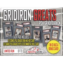 """""""GRIDIRON GREATS"""" Mystery Pack (2) PSA / DNA Hall of Fame Autographs per Pack"""