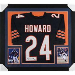 Jordan Howard Signed Bears 31x35 Custom Framed Jersey (Beckett COA)