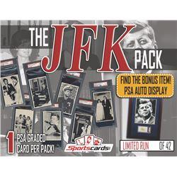 """The JFK Pack"" – One High Grade PSA Graded Vintage Card Per Pack!"