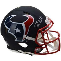 Deshaun Watson Signed Houston Texans Custom Matte Black Full-Size AuthentIic On-Field Speed Helmet (